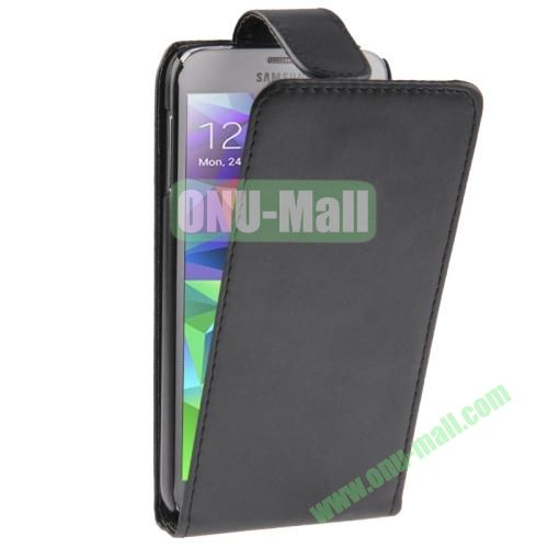 Vertical Flip Leather Cover for Samsung Galaxy S5  i9600 (Black)