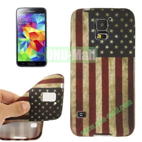 Retro National Flag Pattern TPU Case for Samsung Galaxy S5  i9600 (USA Flag)