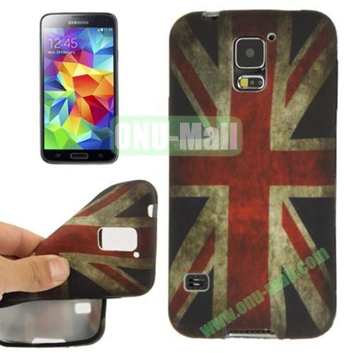 Retro National Flag Pattern TPU Case for Samsung Galaxy S5  i9600 (UK Flag)
