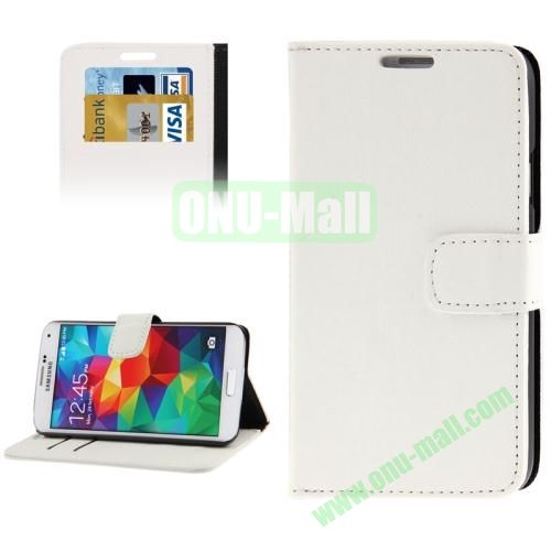 Oracle Pattern Leather Case for Samsung Galaxy S5  i9600 with Credit Card Slots (White)