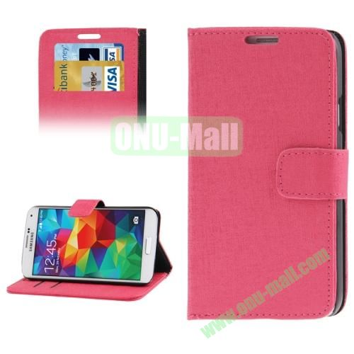 Oracle Pattern Leather Case for Samsung Galaxy S5  i9600 with Credit Card Slots (Red)
