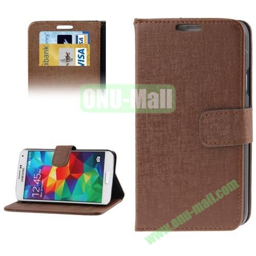Oracle Pattern Leather Case for Samsung Galaxy S5  i9600 with Credit Card Slots (Coffee)