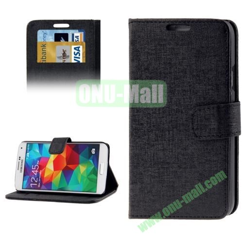 Oracle Pattern Leather Case for Samsung Galaxy S5  i9600 with Credit Card Slots (Black)