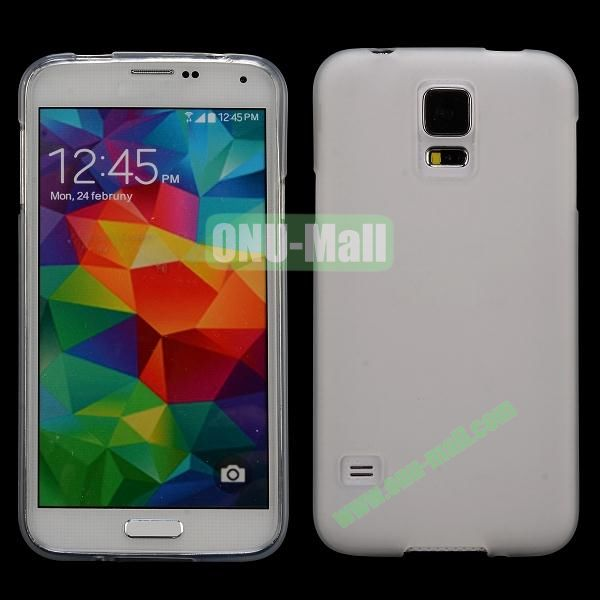 Smooth Simple Color Soft TPU Case for Samsung Galaxy S5 I9600 (White)