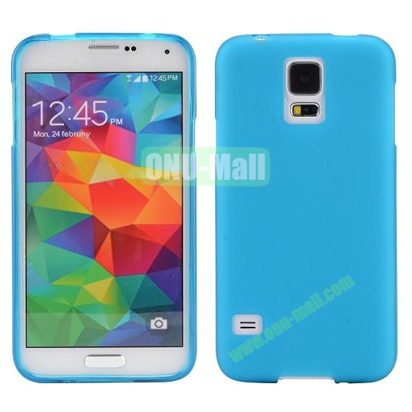Smooth Simple Color Soft TPU Case for Samsung Galaxy S5 I9600 (Sky Blue)