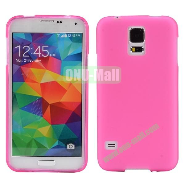 Smooth Simple Color Soft TPU Case for Samsung Galaxy S5 I9600 (Rose)