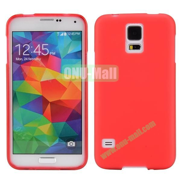 Smooth Simple Color Soft TPU Case for Samsung Galaxy S5 I9600 (Red)