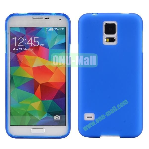 Smooth Simple Color Soft TPU Case for Samsung Galaxy S5 I9600 (Dark Blue)