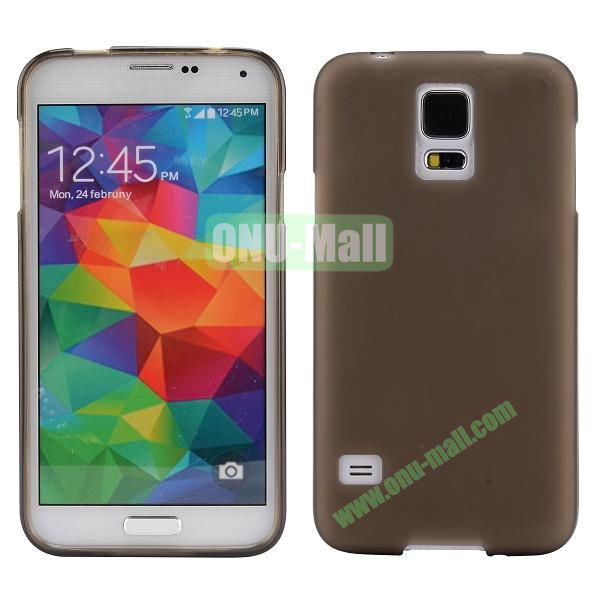 Smooth Simple Color Soft TPU Case for Samsung Galaxy S5 I9600 (Brown)