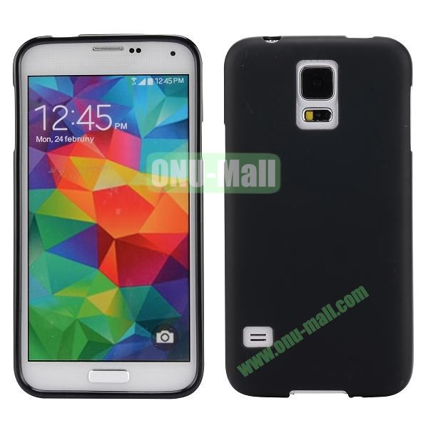 Smooth Simple Color Soft TPU Case for Samsung Galaxy S5 I9600 (Black)