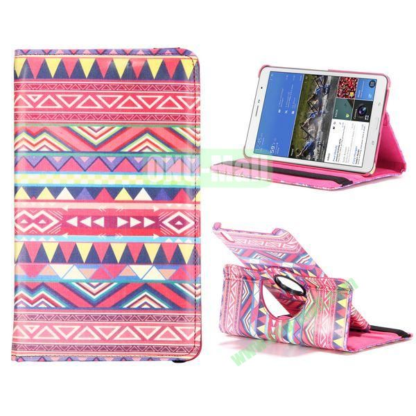 360 Degree Rotatable Leather Case For Samsung Galaxy Tab Pro 8.4 T320 with Elastic Belt (Tribe Pattern)