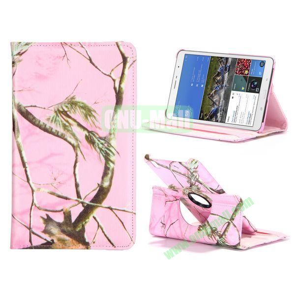 360 Degree Rotatable Leather Case For Samsung Galaxy Tab Pro 8.4 T320 with Elastic Belt (Tree Pattern)