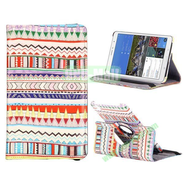 360 Degree Rotatable Leather Case For Samsung Galaxy Tab Pro 8.4 T320 with Elastic Belt (Beautiful Bohemian Pattern)