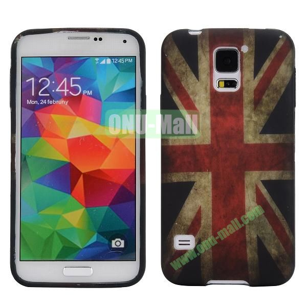 Oil Coated TPU Case for Samsung Galaxy S5 I9600 (UK National Flag Pattern)