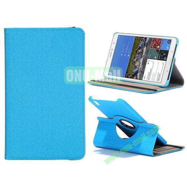 Jeans Texture 360 Degree Rotatable Leather Case For Samsung Galaxy Tab Pro 8.4 T320 with Credit Card Slots (Baby Blue)