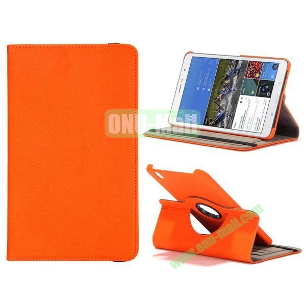 Jeans Texture 360 Degree Rotatable Leather Case For Samsung Galaxy Tab Pro 8.4 T320 with Credit Card Slots (Orange)