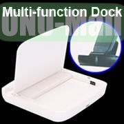 Multi-function Dock Docking Charger for Samsung Galaxy S5 I9600 G900 With Battery Slot (White)