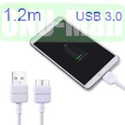 Baseus 1.2M 9 Pin 3.0 USB Sync Data Charging Cable for Samsung Galaxy Note 3  Galaxy S5 I9600 (White)