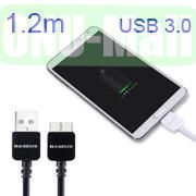 Baseus 1.2M 9 Pin 3.0 USB Sync Data Charging Cable for Samsung Galaxy Note 3  Galaxy S5 I9600 (Black)
