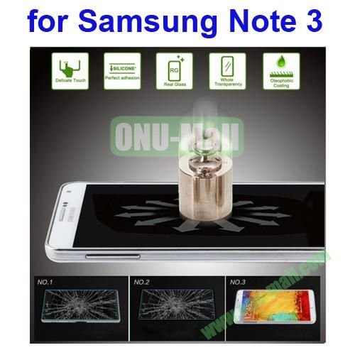 Angibabe Ultrathin 0.33mm Explosion-proof Tempered Glass Film for Samsung Galaxy Note 3  N9000