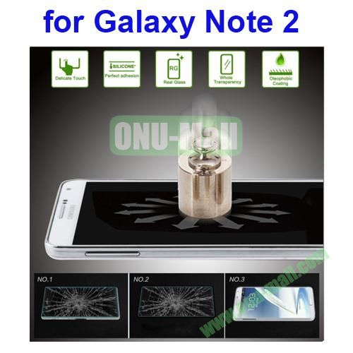 Angibabe Ultrathin 0.33mm Explosion-proof Tempered Glass Film for Samsung Galaxy Note 2 N7100