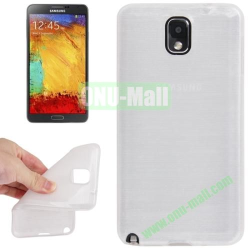 New Arrival Brushed Texture TPU Protective Case for Samsung Galaxy Note III  N9000 (White)