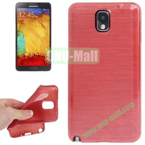 New Arrival Brushed Texture TPU Protective Case for Samsung Galaxy Note III  N9000 (Red)