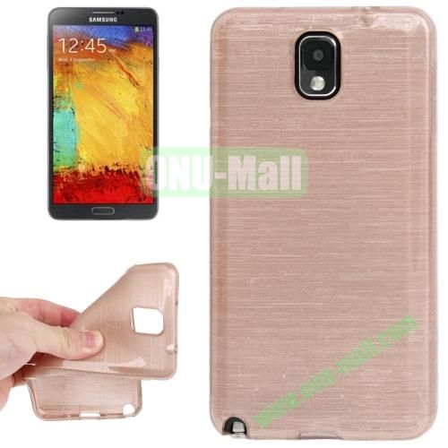 New Arrival Brushed Texture TPU Protective Case for Samsung Galaxy Note III  N9000 (Light Pink)