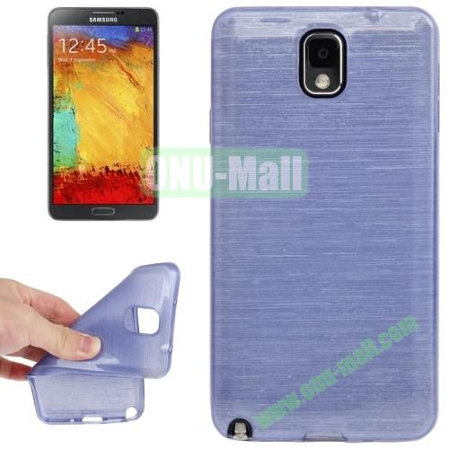 New Arrival Brushed Texture TPU Protective Case for Samsung Galaxy Note III  N9000 (Purple)