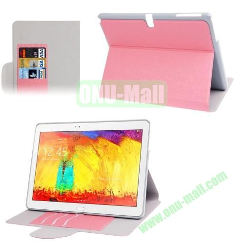 Oracle Texture Leather Case for Samsung Galaxy Note 10.1 2014 Edition P600 with Holder (Pink)