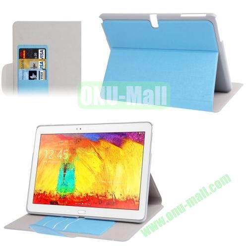Oracle Texture Leather Case for Samsung Galaxy Note 10.1 2014 Edition P600 with Holder (Blue)