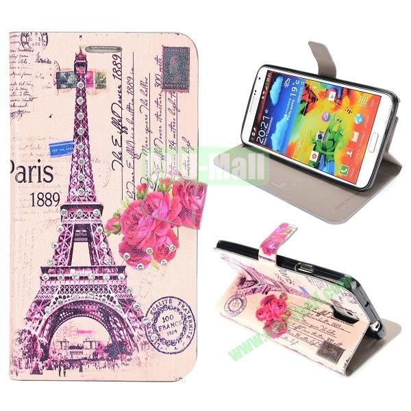 Newest Design Place of Interest Images Flip Leather Case for Samsung Galaxy Note 3 N9000 (Eiffel Tower E)