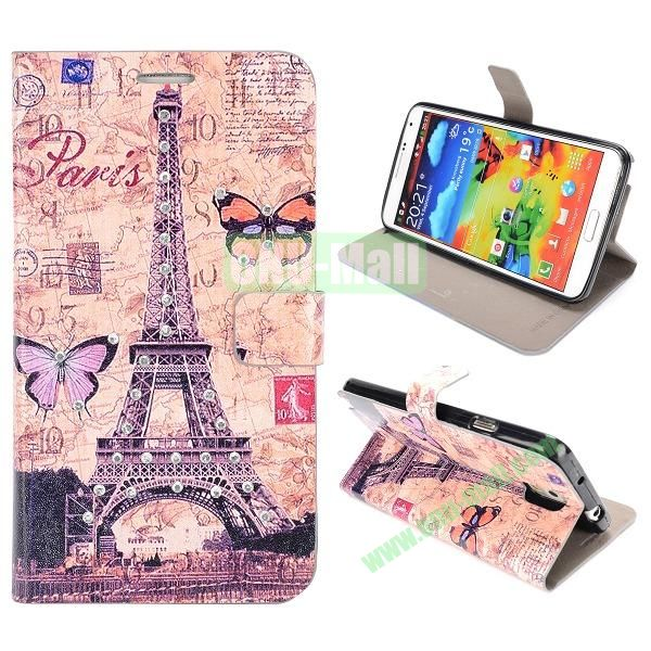 Newest Design Place of Interest Images Flip Leather Case for Samsung Galaxy Note 3 N9000 (Eiffel Tower H)