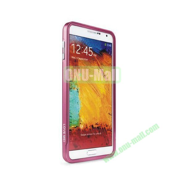High-end Aluminium Metal Frame Bumper Case for Samsung Galaxy Note 3 N9000 (Pink)