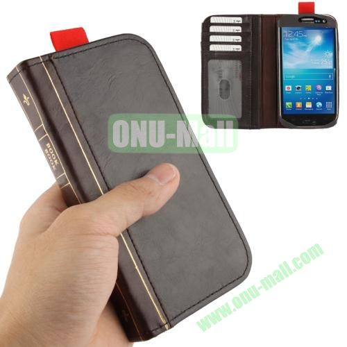 Retro Book Style Full Leather Case with Credit Card Slots for Samsung Galaxy S IV  i9500
