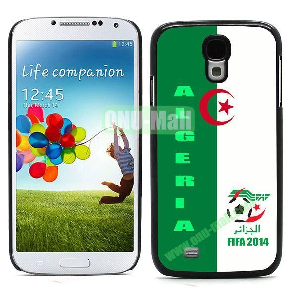 2014 FIFA World Cup Team Flag Pattern Design Aluminium Coated PC Hard Case for Samsung Galaxy S4 i9500 (Algeria)