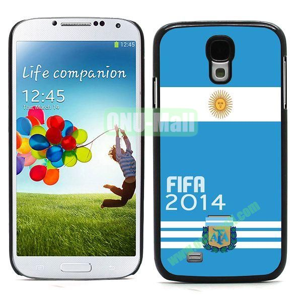 2014 FIFA World Cup Team Flag Pattern Design Aluminium Coated PC Hard Case for Samsung Galaxy S4 i9500 (Argentina)