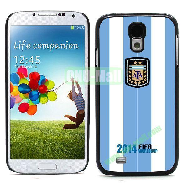 2014 FIFA World Cup Team Flag Pattern Design Aluminium Coated PC Hard Case for Samsung Galaxy S4 i9500 (Argentina B)