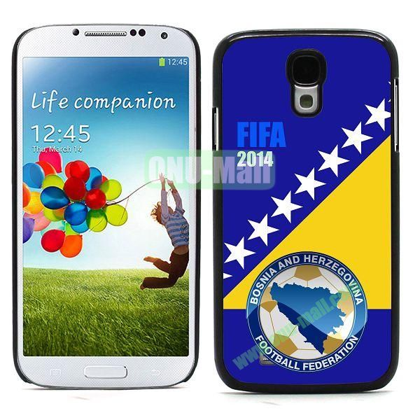 2014 FIFA World Cup Team Flag Pattern Design Aluminium Coated PC Hard Case for Samsung Galaxy S4 i9500 (Bosnia)