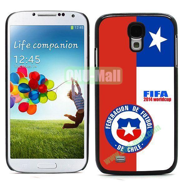 2014 FIFA World Cup Team Flag Pattern Design Aluminium Coated PC Hard Case for Samsung Galaxy S4 i9500 (Chile B)