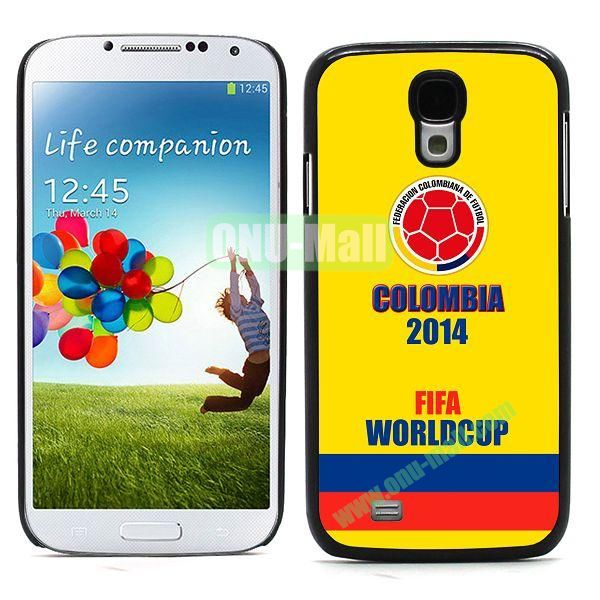 2014 FIFA World Cup Team Flag Pattern Design Aluminium Coated PC Hard Case for Samsung Galaxy S4 i9500 (Colombia)