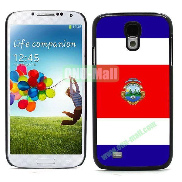2014 FIFA World Cup Team Flag Pattern Design Aluminium Coated PC Hard Case for Samsung Galaxy S4 i9500 (Costa)