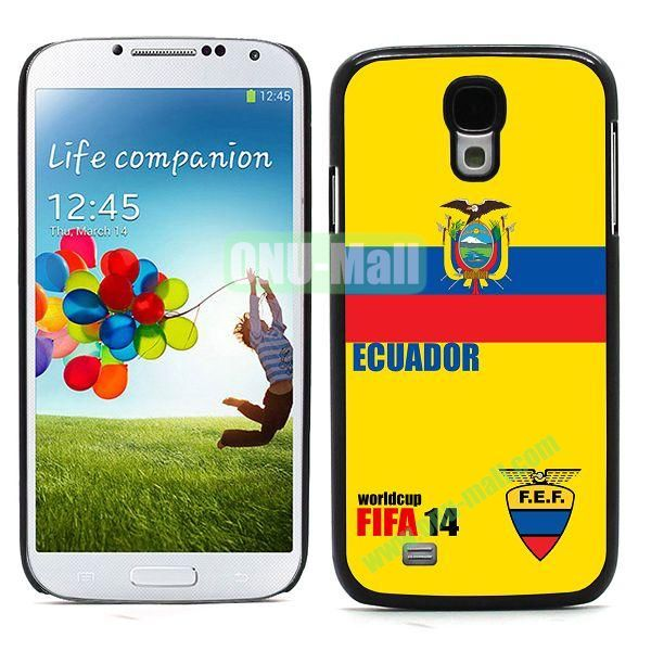 2014 FIFA World Cup Team Flag Pattern Design Aluminium Coated PC Hard Case for Samsung Galaxy S4 i9500 (Ecuador)