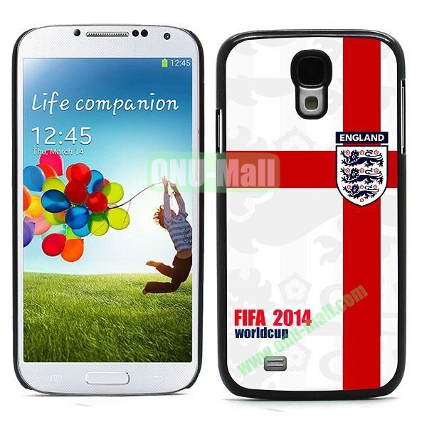 2014 FIFA World Cup Team Flag Pattern Design Aluminium Coated PC Hard Case for Samsung Galaxy S4 i9500 (England)