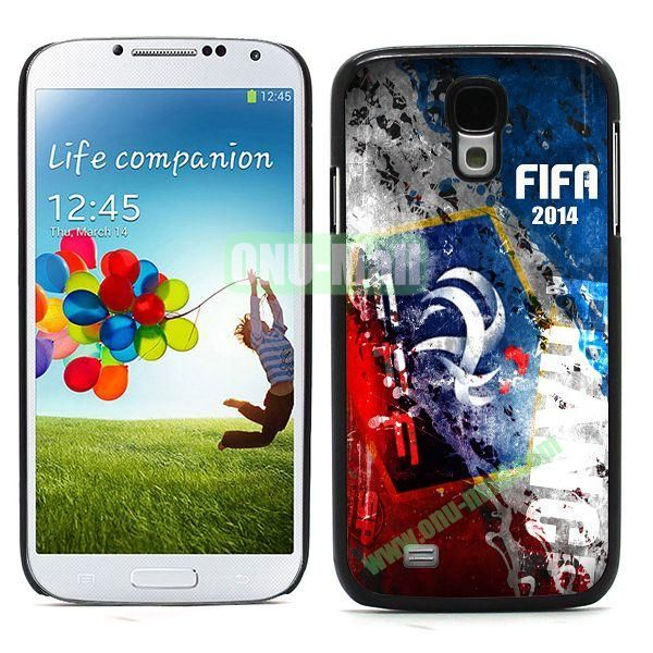 2014 FIFA World Cup Team Flag Pattern Design Aluminium Coated PC Hard Case for Samsung Galaxy S4 i9500 (France)