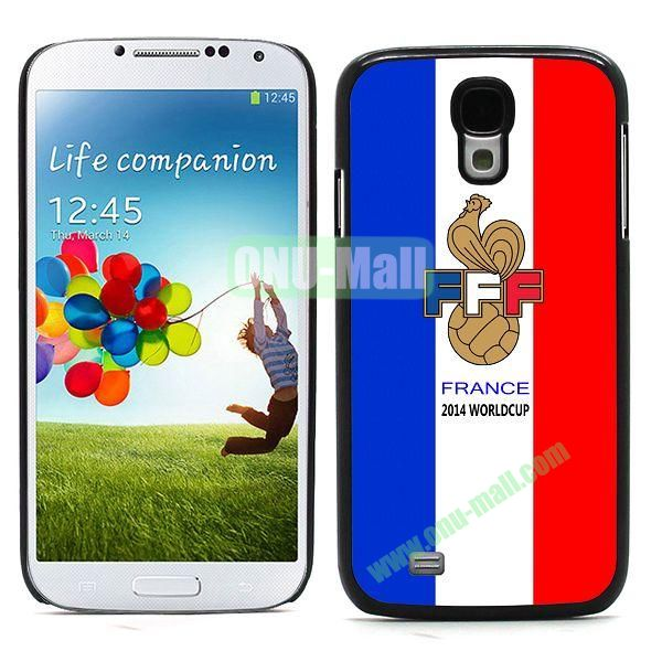 2014 FIFA World Cup Team Flag Pattern Design Aluminium Coated PC Hard Case for Samsung Galaxy S4 i9500 (France C)