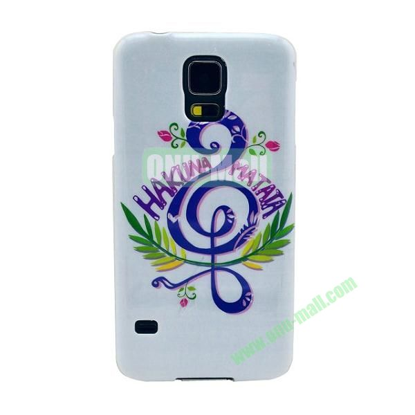 Colorful Painting Glossy Ultraslim TPU Case for Samsung Galaxy S5 I9600 G600 (Music)