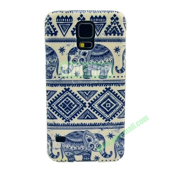 Colorful Painting Glossy Ultraslim TPU Case for Samsung Galaxy S5 I9600 G600 (Tribal Style)