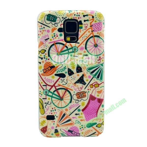 Colorful Painting Glossy Ultraslim TPU Case for Samsung Galaxy S5 I9600 G600 (Sweet)
