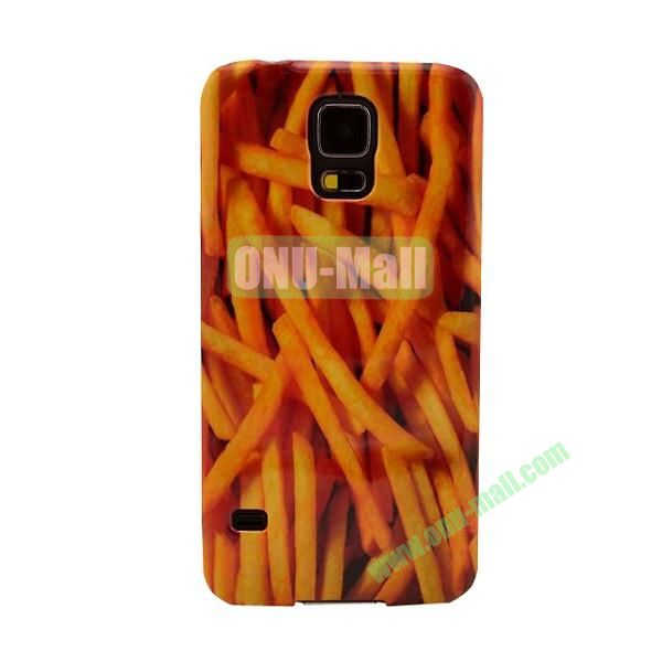 Colorful Painting Glossy Ultraslim TPU Case for Samsung Galaxy S5 I9600 G600 (Chips)